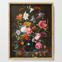 """Jan Davidsz de Heem """"Vase of Flowers"""" Serving Tray"""
