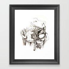 Anatomy: Study 1 Salivating Zombie Framed Art Print