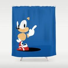Minimal Sonic Shower Curtain