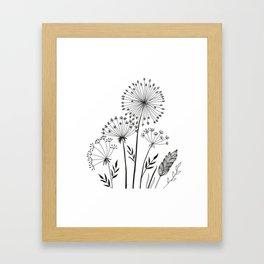Doodle herbals Framed Art Print