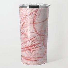 Dandelion In Pink Travel Mug