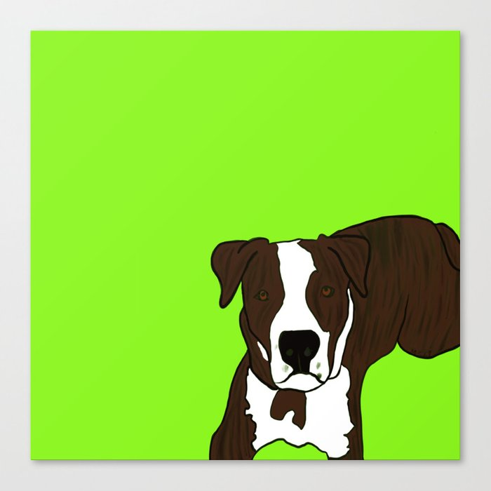 Chico the Brindled Pit Bull Canvas Print