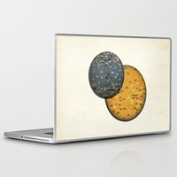 sun and moon Laptop & iPad Skins featuring Sun &  Moon by Jonathan Knight