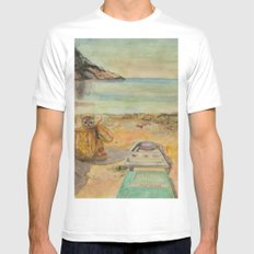 Moonrise Kingdom MEDIUM White Mens Fitted Tee
