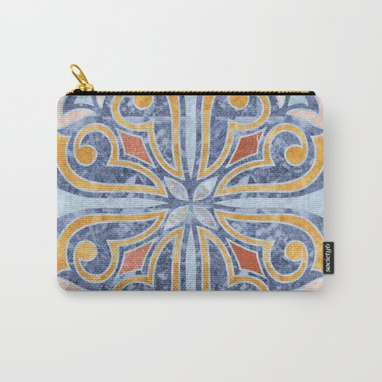 Blue Oriental Tile 04 Carry-All Pouch