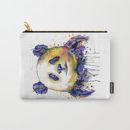 Colorful Panda Head Carry-All Pouch