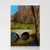 battlefield Stationery Cards featuring Burnside Bridge Antietam Battlefield by Biff Rendar