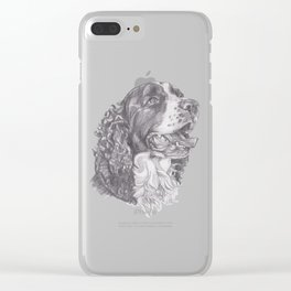 Gotta draw the English Springer Doggie! Clear iPhone Case
