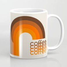 Coffee Mug - Brown Rainbow Mug