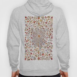 Medieval Flowers on Black Hoodie