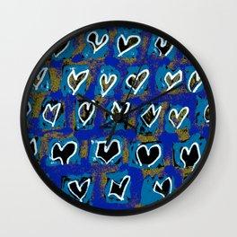 Flying Hearts ~ Pure Love Wall Clock