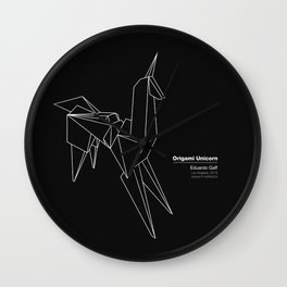 Origami Unicorn Wall Clock