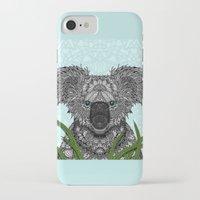 koala iPhone & iPod Cases featuring Koala by ArtLovePassion