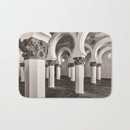 The Historic Arches in the Synagogue of Santa María la Blanca, Toledo Spain (3) Bath Mat