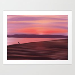 Contemplation by the sea Art Print