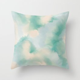 GREEN WATERCOLOR Throw Pillow