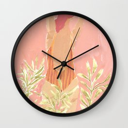 Girl and the leafs Wall Clock