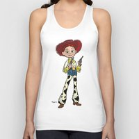 toy story Tank Tops featuring Toy Story | Jessie by Brave Tiger Designs