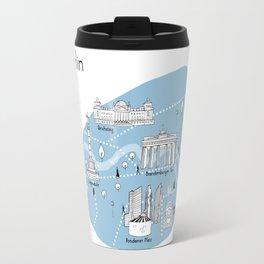 Mapping Berlin - Blue Travel Mug