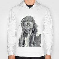 jack sparrow Hoodies featuring Jack Sparrow - Bring Me That Horizon by Art by Cathrine Gressum