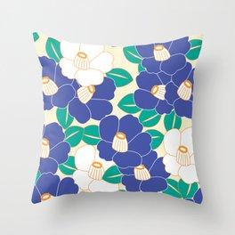 Shades of Tsubaki - Lavender & White Throw Pillow