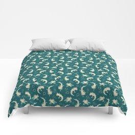Relaxolotl - Teal Comforters