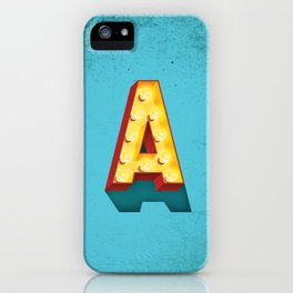 A in lights iPhone Case