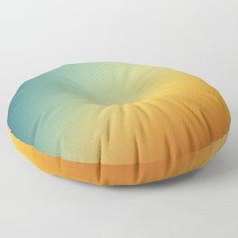 Gradient Colours: Orange Blue Floor Pillow
