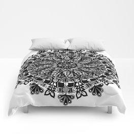 Mandala: Skeleton Leaves Comforters