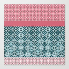 Japanese Style Quilt Canvas Print