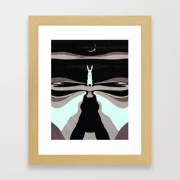 My Night Shape: The Hare Framed Art Print