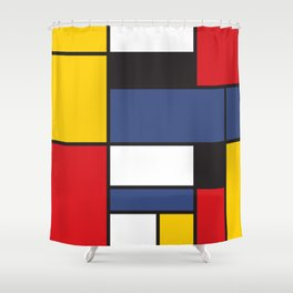 Mondrian 3 Shower Curtain