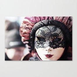 Italy Venice Mask 4 woman Canvas Print