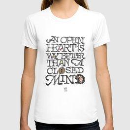 Open heart - Closed mind T-shirt