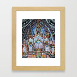 Gothic Lights Framed Art Print