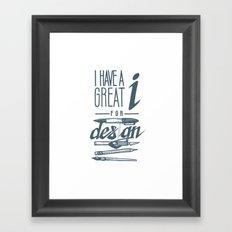 Clever Designer Framed Art Print