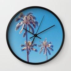 palm tree ver.sunny day Wall Clock