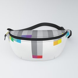 Pixel Rainbow on White Fanny Pack