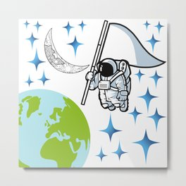Our blue planet Metal Print