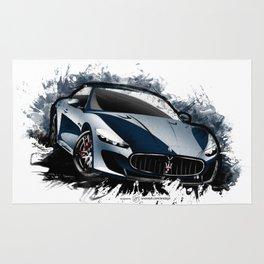 Maserati Granturismo MC Stradale (Blue) Rug