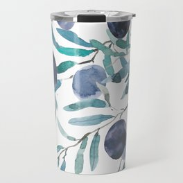 black olive watercolor 2018 Travel Mug