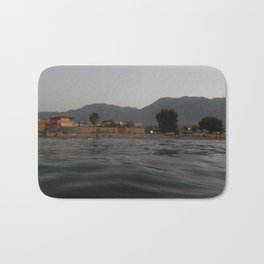 Travel in Greece on the island of Crete mountains and the sea Bath Mat