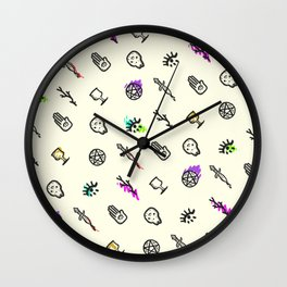 Spooky Trail Mix Wall Clock