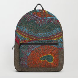 Growing - Thuja - plant cell embroidery Backpack