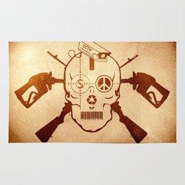 Doom Skull, Beware! Wild West Style Rug