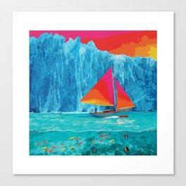 Sunrise Sails in the Arctic Ocean Canvas Print