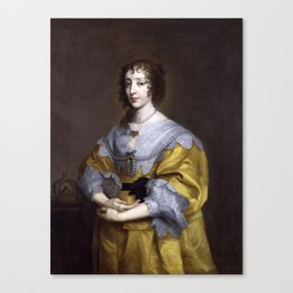 Henrietta Maria , Anthony van Dyck, 1632 -1635 Canvas Print
