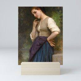 """William-Adolphe Bouguereau """"The Shepherdess"""" Mini Art Print"""