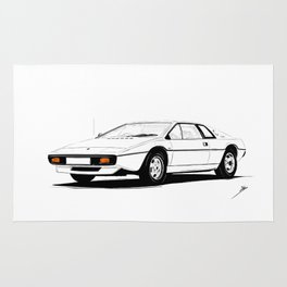Cars And Coffee - Lotus Esprit S1 Rug