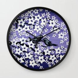 purple sakura Wall Clock